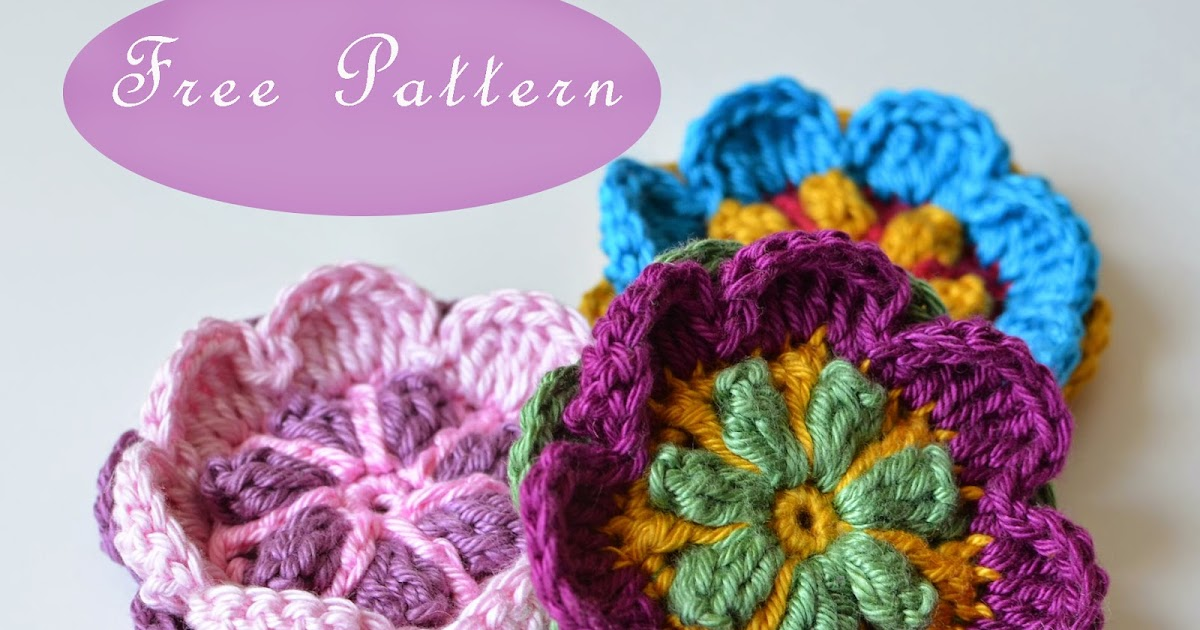Free Pattern Overlay Flower Brooch Lillabjrns Crochet World