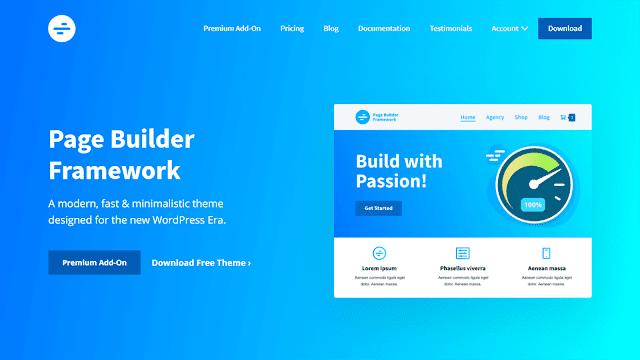 Page Builder Framework WordPress Theme