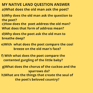 my native land questions answers