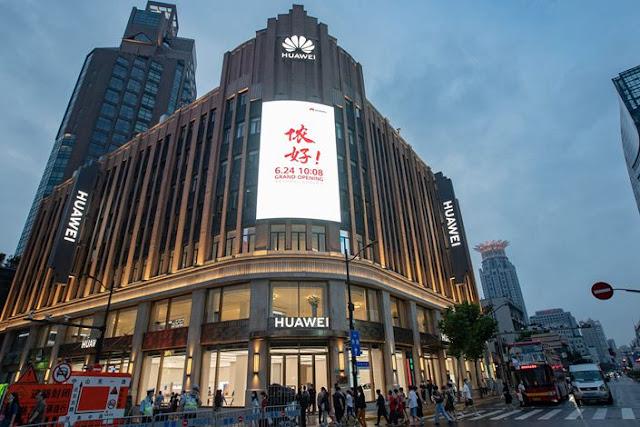 هواوي تفتح متجرها الأكبر في شنغهاي