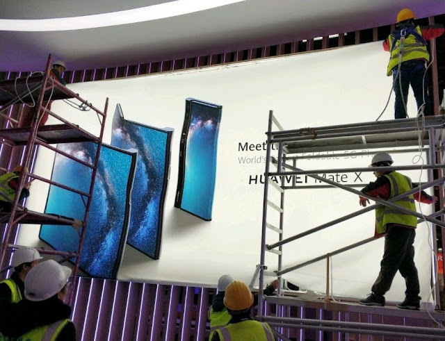 Huawei's 'Mate X' 5G foldable phone photo spotted on billboard
