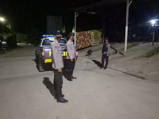 Antisipasi Kejahatan Malam Hari Personil Polsek Malua Polres Enrekang Laksanakan Patroli Malam