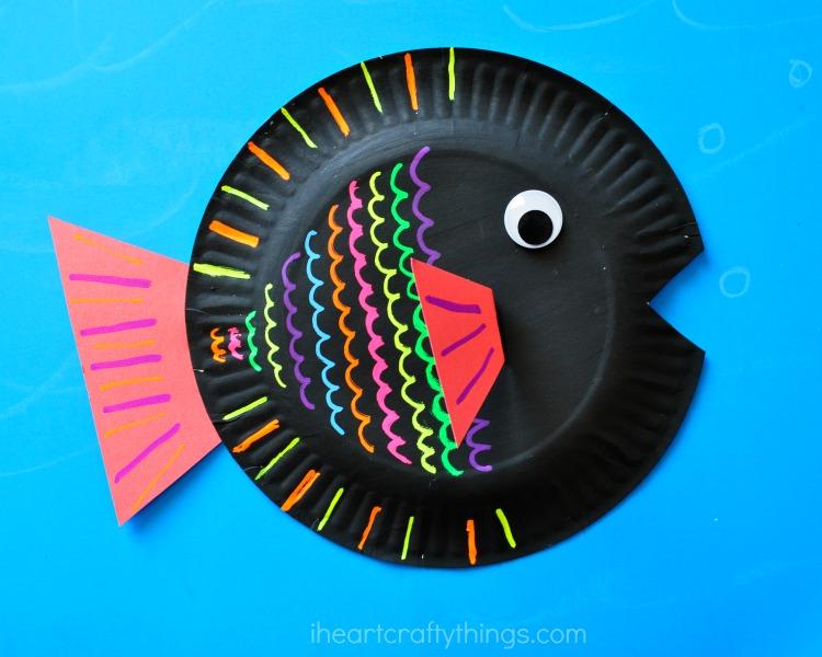 Paper Heart Fish Craft