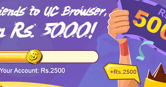 (LOOT) REFER & EARN ₹5000 PAYTM CASH FROM UC BROWSER – PC [OFFER STARTED AGAIN]