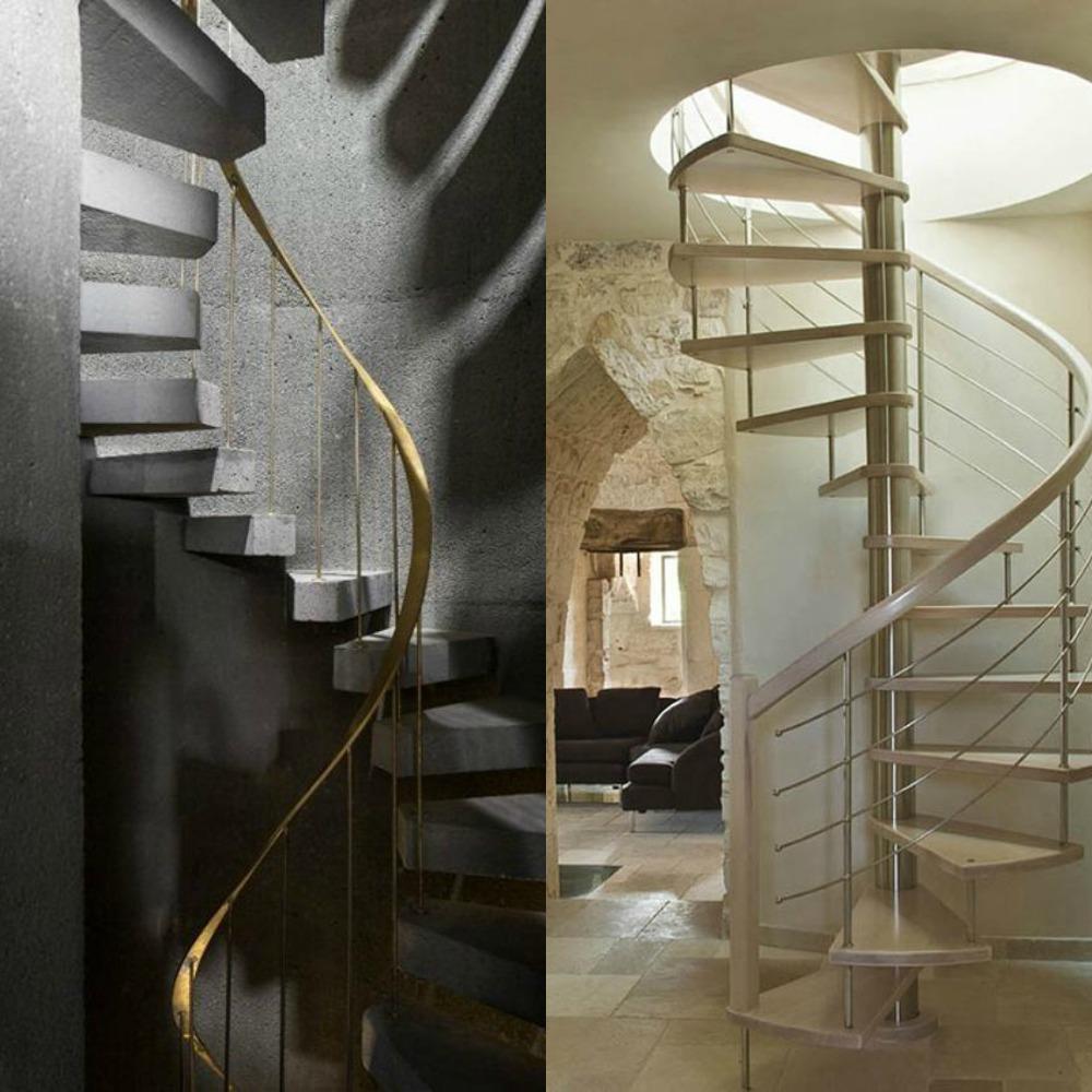 Mcompany style c mo decorar con escaleras de caracol for Como hacer una escalera caracol metalica