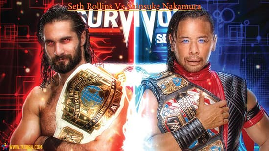 Seth Rollins Vs Shinsuke Nakamura - منصة تجربة
