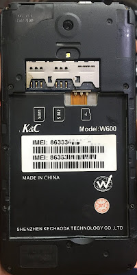 K&C W600 Flash File  Without Password