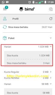 Mendapatkan Kuota 1GB Gratis dari Bima+4