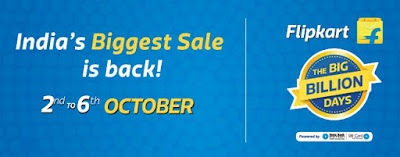 Flipkart Big Billion Days Sale 2016 to start from October 2