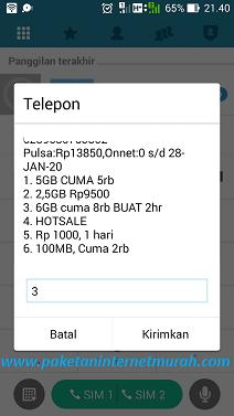 Paket Tri 6GB Cuma 8000 untuk 2 Hari