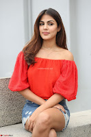 Rhea Chakraborty in Red Crop Top and Denim Shorts Spicy Pics ~  Exclusive 314.JPG