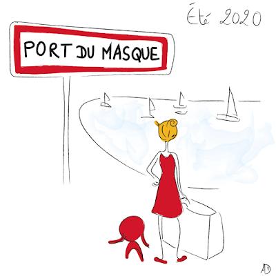 Port du masque, vacances été 2020