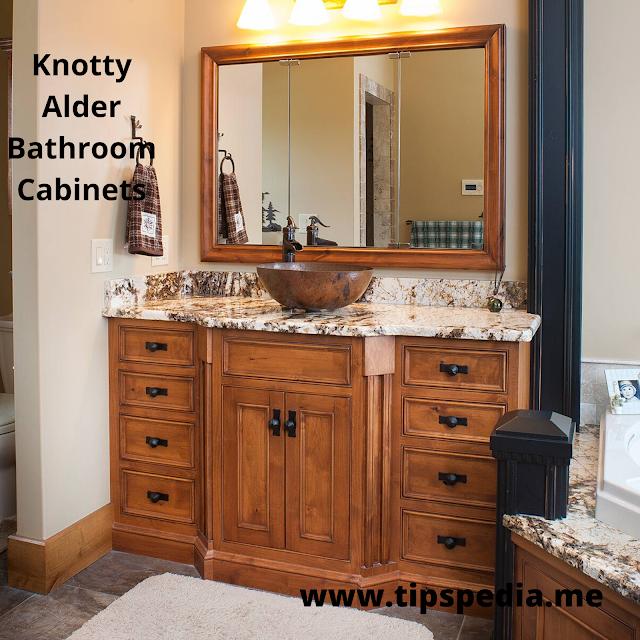 knotty alder bathroom cabinets
