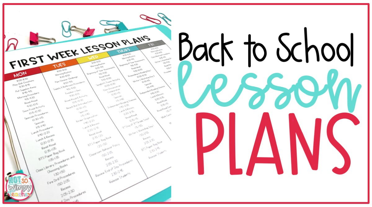 small resolution of First Week of School Lesson Plans - Not So Wimpy Teacher