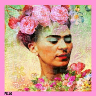 colorful frida kahlo fabric