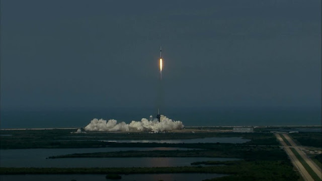 US creates history, SpaceX-NASA launches human space mission