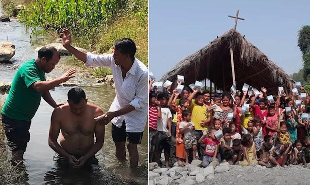 Apesar das dificuldades, pastor realiza mais de 4.300 batismos no Nepal