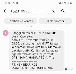 Lowongan Kerja PT NSK Bearings Manufacturing Indonesia