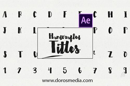 قوالب افترافكت قالب افترافكت احترافي لتكوين النصوص بأنميشن إحترافية لبرنامج الافترافكت Script Typeface