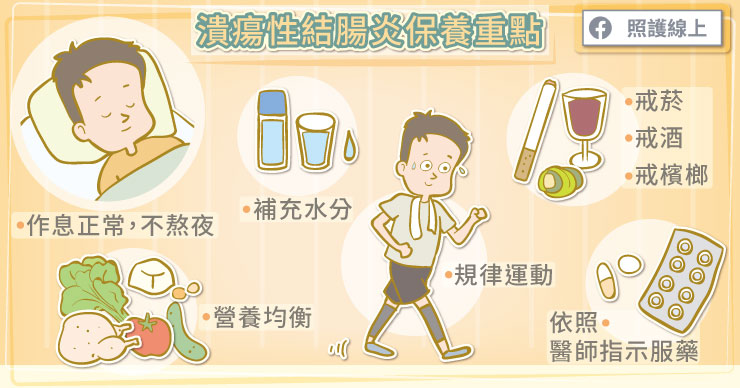 潰瘍性結腸炎保養重點