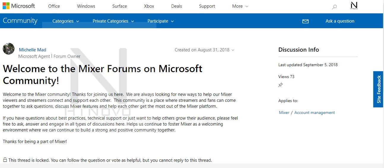 Welcome-Forum-Mixer