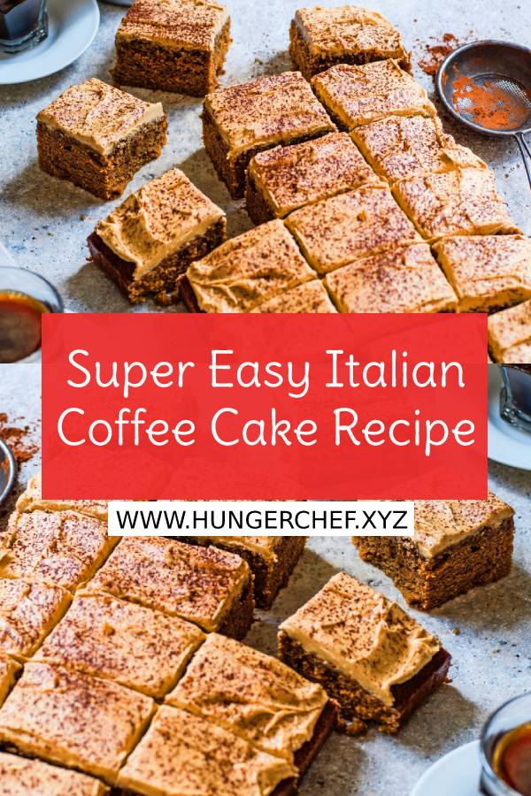 Super Easy Italian Coffee Cake Recipe - Try our super easy coffee slab cake, this recipe is nut-free and comes with a creamy cappuccino buttercream. This simple yet moreish cake is perfect for parties, birthdays or just family gatherings. #easycakerecipe #italianrecipe #italianfood #italianfoodrecipe #coffeecake #easyitalianrecipe #dessert #nutfree #cappucino #buttercream #birthdayscake