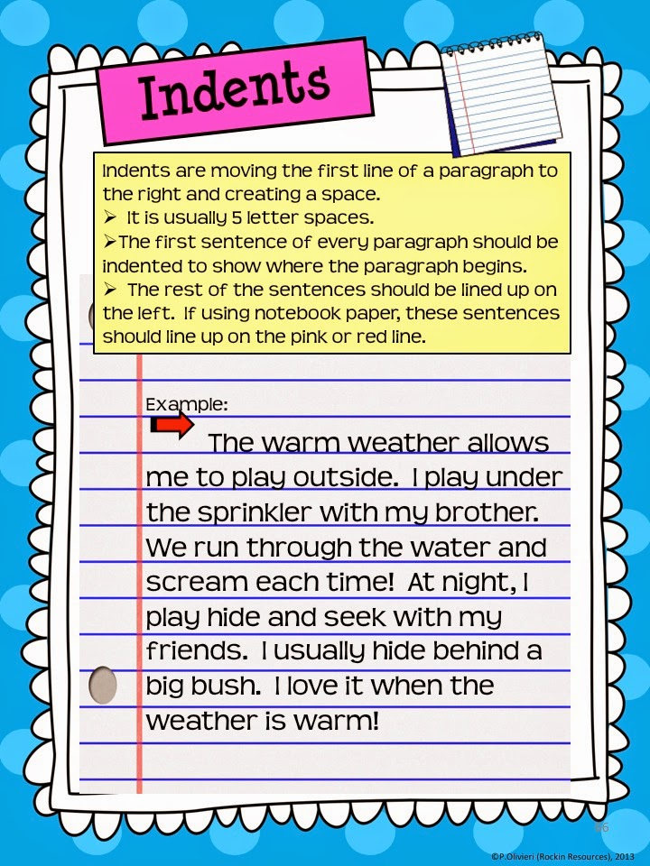 Key points to remember when writing a topic sentence for kids