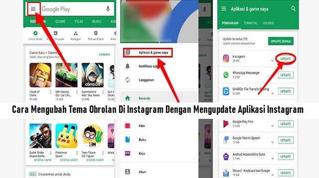 Cara Mengubah Tema Obrolan Di Instagram