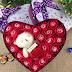 Hộp Trái Tim Hoa Hồng Sáp 18 Bông Đỏ Lung Linh