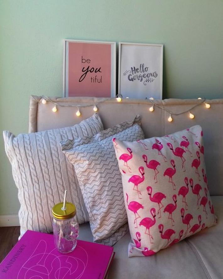 Decoração rosa golde com flamingos Foto/Pinterest