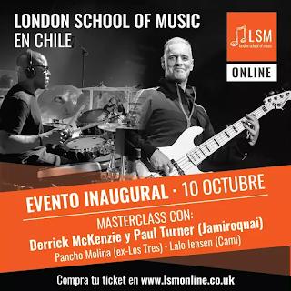 Escuela de música festejará llegada a Chile con Masterclass online junto a músicos de Jamiroquai