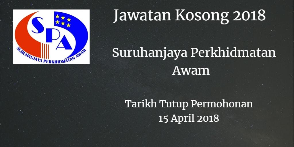 Jawatan Kosong SPA8 15 April 2018