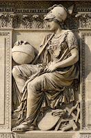 Relief Athena Lempar cakram diperlombakan sejak Olimpiade I tahun 1896 di Athena, Yunani.