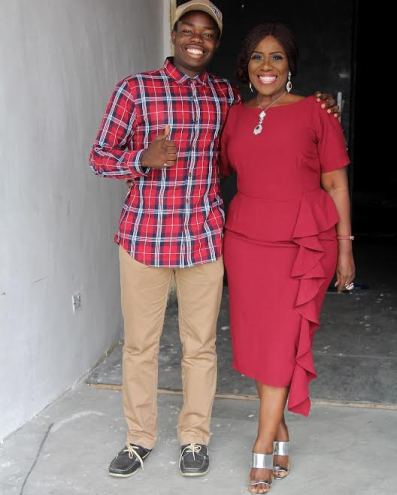 Nollywood actress Joke Silva and her son Gbenga Jacobs attended the ongoing MTN Project Fame West Africa