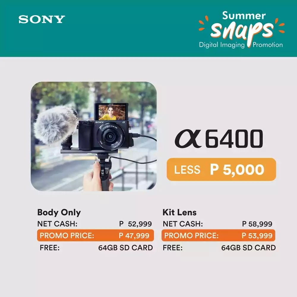 Sony Philippines' Summer Snaps Gadget Deals