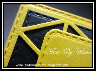 Close-up van het gele raster. Close-up of the yellow grid.