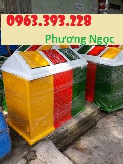 Diễn đàn rao vặt tổng hợp: Thùng rác 3 ngăn hình mái nhà, thùng rác composite Thung%2Brac%2B3%2Bngan