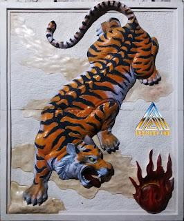 Relief macan 3 dimensi