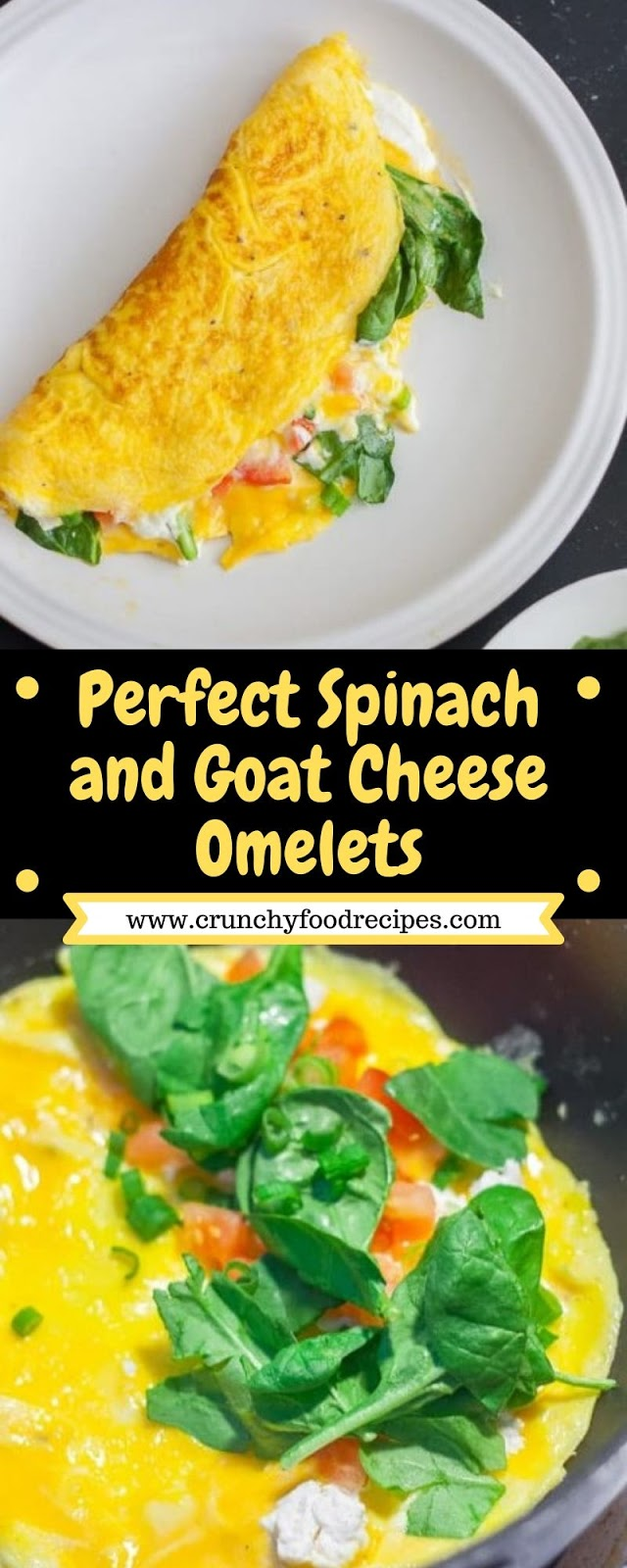 Perfect Spinach and Goat Cheese Omelets
