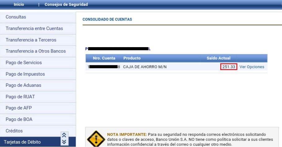Compras online bolivia como habilitar dinero de nuestra for Banco union uninet