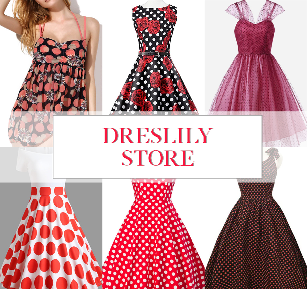 dresslily polkadot dresses