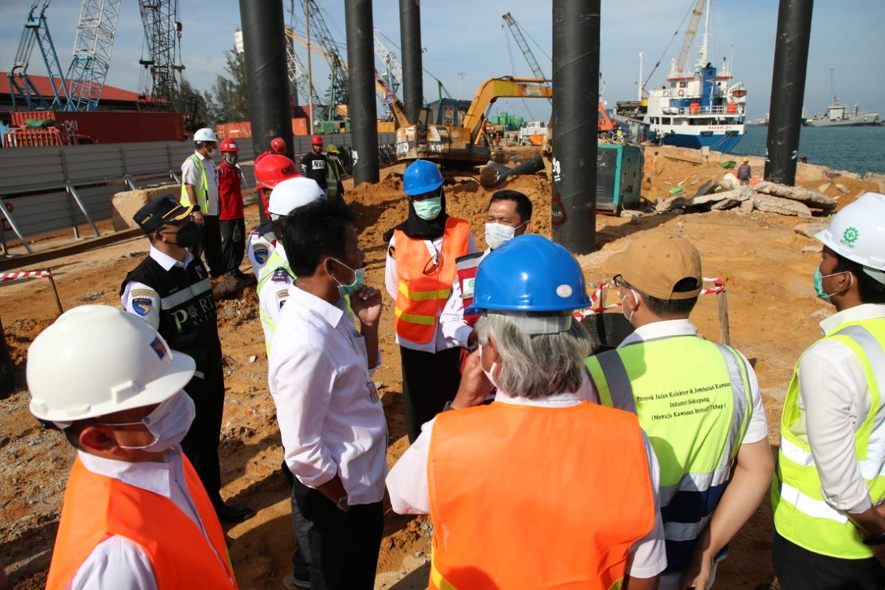 Kepala BP Batam Tinjau Pelaksanaan Pembangunan Infrastruktur di Tiga Ruas Jalan Kota Batam