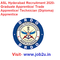 ASL Hyderabad Recruitment 2020- Graduate Apprentice/ Trade Apprentice/ Technician (Diploma) Apprentice