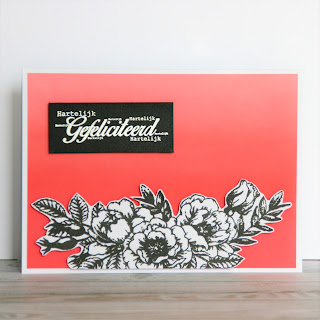 Beautiful flowers card with a blended background