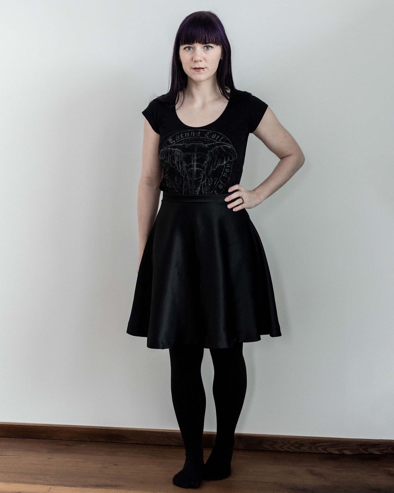 half circle skirt sewing Minn's Things calculator self drafted handmade diy free front view