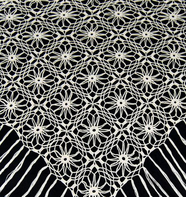 Crochet shawl pattern,  triangle, easy, quick, lace