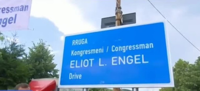 The Gjakova-Tropojë road named after the US lawmaker Eliot Engel