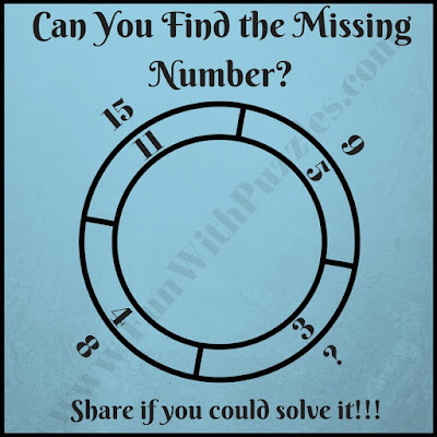 Fun math double circle picture puzzle