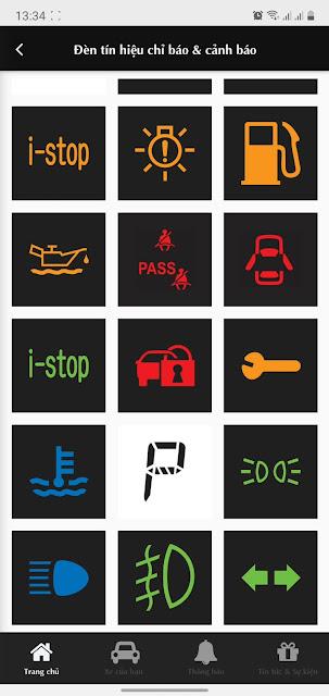 Các đèn cảnh báo tablo trên Mazda