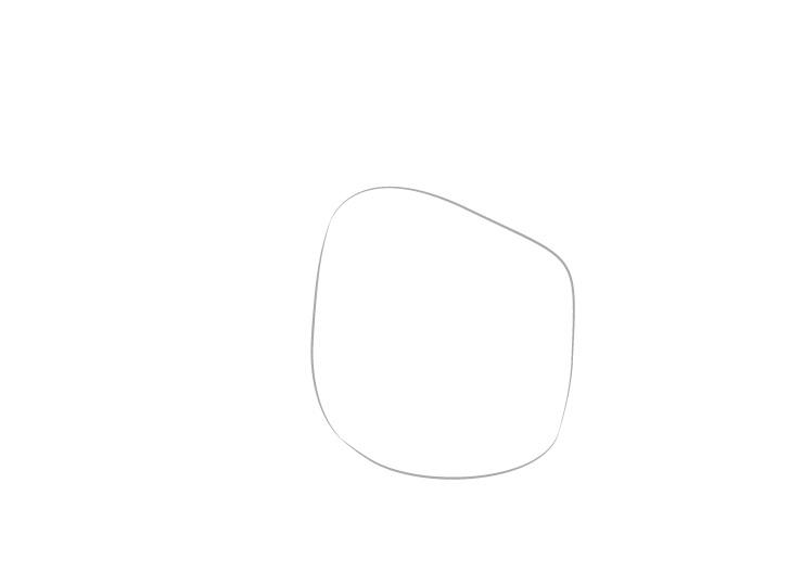 Jari menunjuk jauh gambar telapak tangan